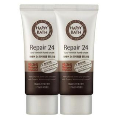 HAPPY BATH - Set of 2: Repair 24 Anti-Wrinkle Hand Cream 60ml