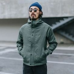 YIDESIMPLE - High-Neck Hooded Jacket