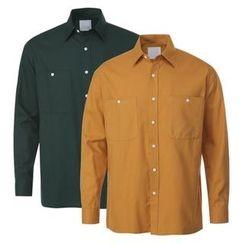 Seoul Homme - Dual-Pocket Cotton Shirt