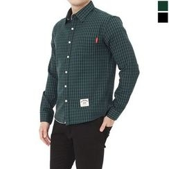 Seoul Homme - Long-Sleeve Check Shirt