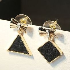 True Glam - Bow Non-Matching Earrings
