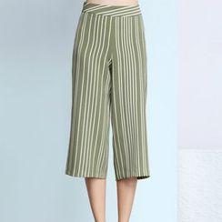 Sentubila - Cropped Wide Leg Pants