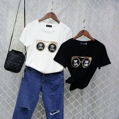 Polaris - Sequined Short Sleeve T-Shirt