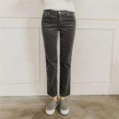 JOAMOM - Flat-Front Straight-Cut Pants