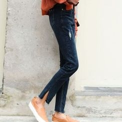 Woodie - Slit Cuff Straight-Cut Jeans