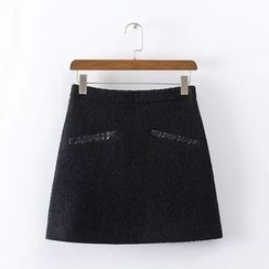 Chicsense - Tweed Miniskirt