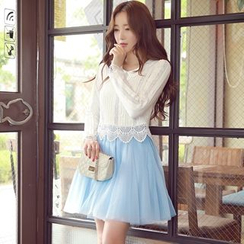 Dabuwawa - Plain A-Line Skirt