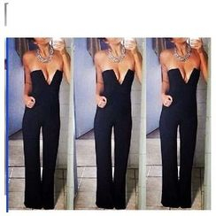 Hotprint - Strapless Jumpsuit