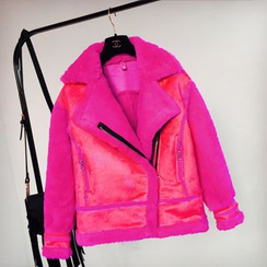 Cotton Candy - Faux Shearling Jacket