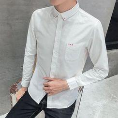 Besto - 交叉刺绣衬衫