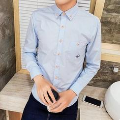 Besto - 蘑菇刺绣衬衫