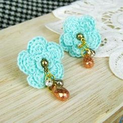 MyLittleThing - Green Lace Flower Earrings