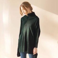Tokyo Fashion - Long-Sleeve Long Knit Top
