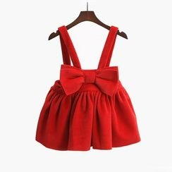 Spring Swallow - Kids Bow-Accent Jumper Dress