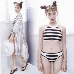 Sewwi - Set: Striped Bikini + Cover