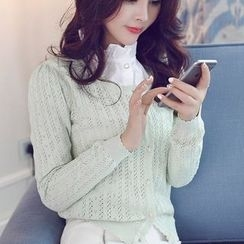 anzoveve - Pointelle Knit Cardigan