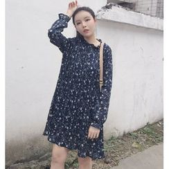 Eva Fashion - Floral Print Chiffon Dress