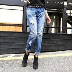 PIPPIN - Distressed Boyfriend Jeans