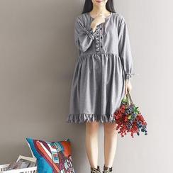 Kiche - Wool Blend Long-Sleeve Dress