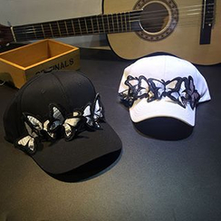 Hats 'n' Tales - Butterfly Accent Baseball Cap