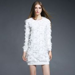 巧妮兒 - 流蘇套衫連衣裙