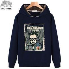 CHU STYLE - Print Fleece-lined Hoodie