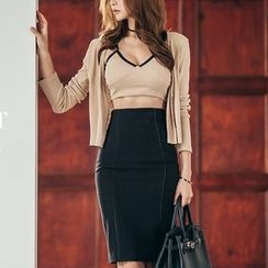 Aurora - Set: Camisole + Cardigan + Skirt