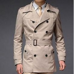 Free Shop - Double-Breasted Trench Coat