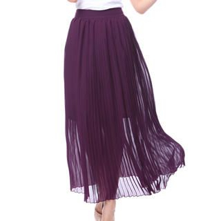 O.SA - Pleated Chiffon Maxi Skirt