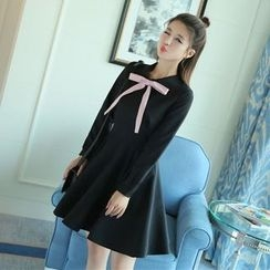 EFO - Long-Sleeve Bow-Accent Dress