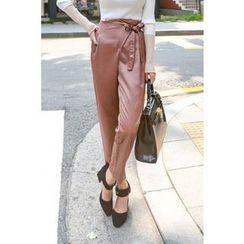 PPGIRL - Wrap-Front Dress Pants