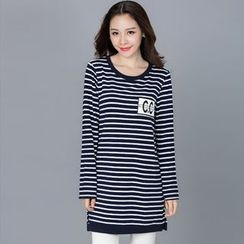 Eloqueen - Long-Sleeve Striped Tunic