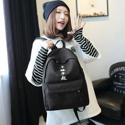 Seok - Printed Canvas Backpack