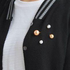 Persinette - Faux Pearl Brooch
