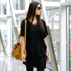 SO Central - Asymmetric Sleeves T-Shirt Dress