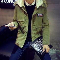 Masowild - Furry Hooded Padded Jacket