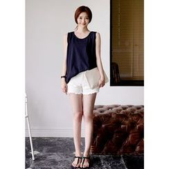 DEEPNY - Frayed-Edge Loose-Fit Tank Top