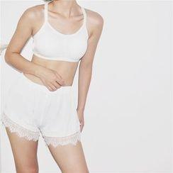 EEKO - Lace Hem Under Shorts