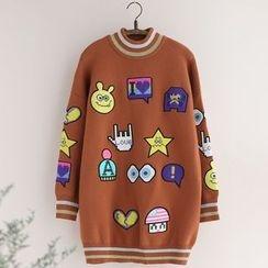 11.STREET - Cartoon Embroidered Sweater