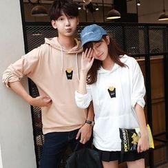 TOOI - Couple Matching Chips Embroidered Hoodie