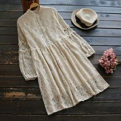 YOYO - Long-Sleeve Lace Dress