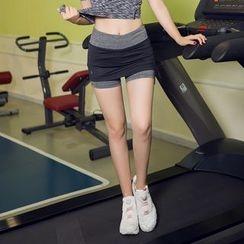 AT NINE - Layered Sport Shorts