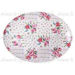 Aimez le style - Aimez le style Oval Plate Flower Patchwork
