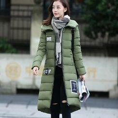 Suzette - Pom Pom Hooded Padded Coat