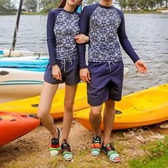 DJ Design - Paisley Print Couple Matching Rashguard