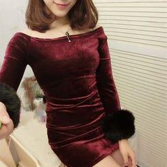 Mi Camilla - Velvet Sheath Party Dress