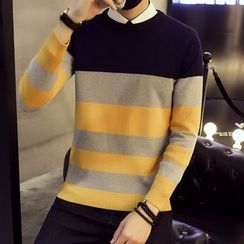 Eight Degrees - Color Block Knit Pullover