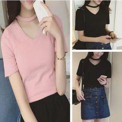 Imogen - Cutout Short-Sleeve T-shirt