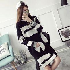 Qimi - 印花針織連衣裙