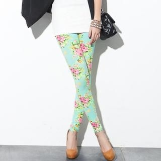 CUTIE FASHION - Floral Leggings